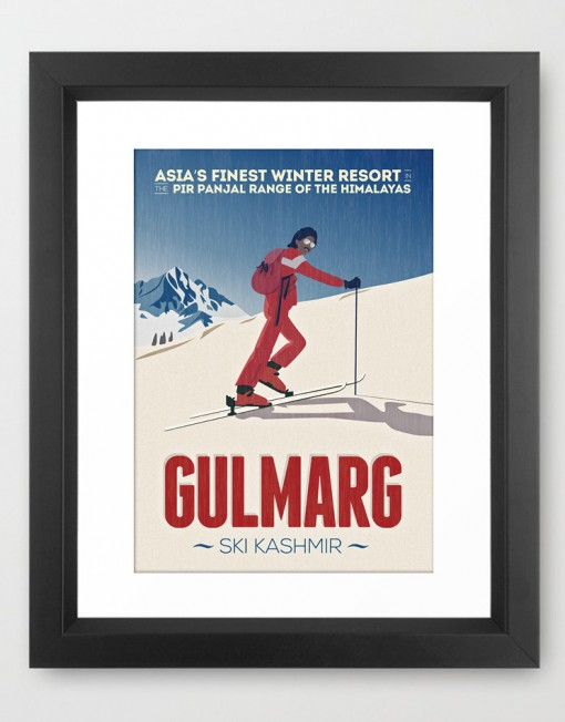 GULMARG classic poster