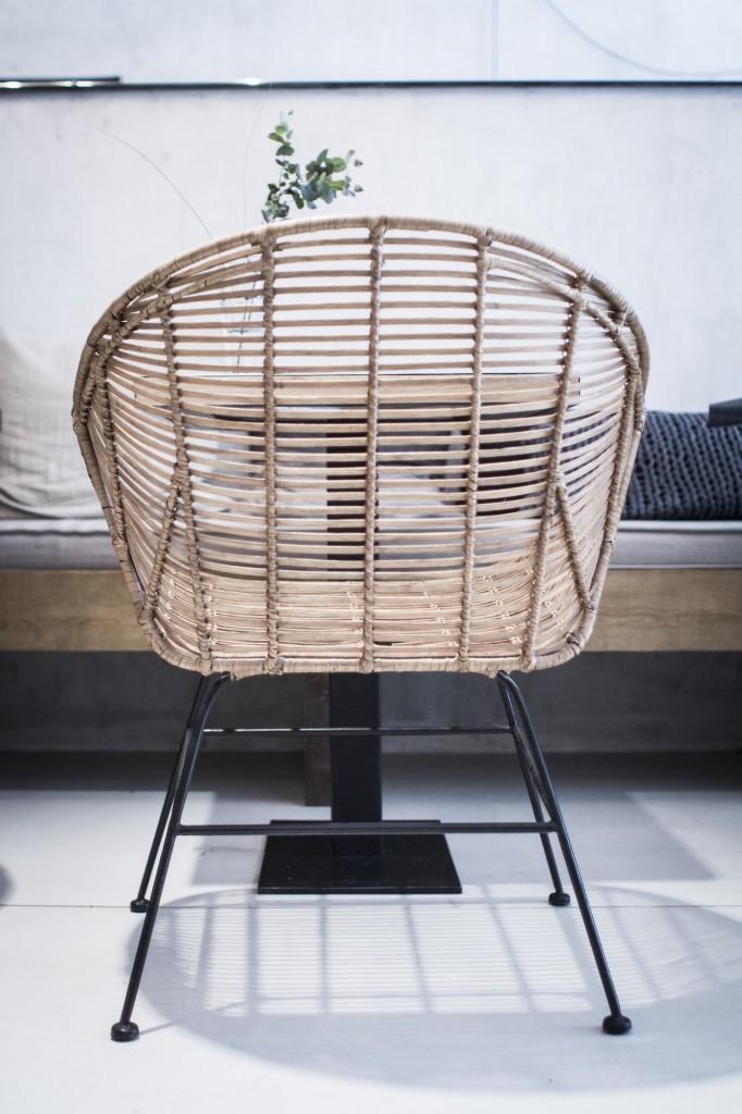 chaises paille design