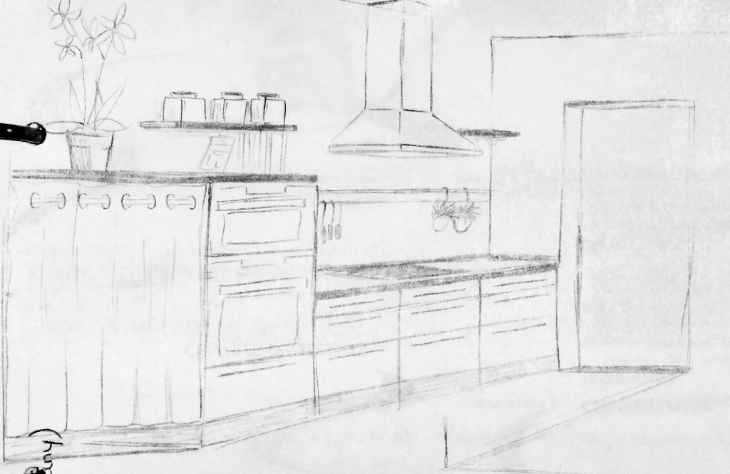drawing kitchen