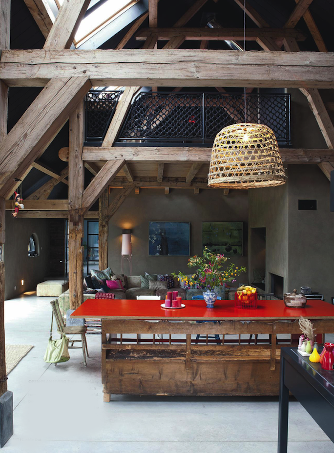 Big beautiful wooden beam chalet