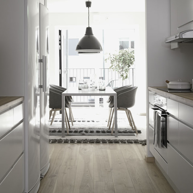 white and light wood kitchen