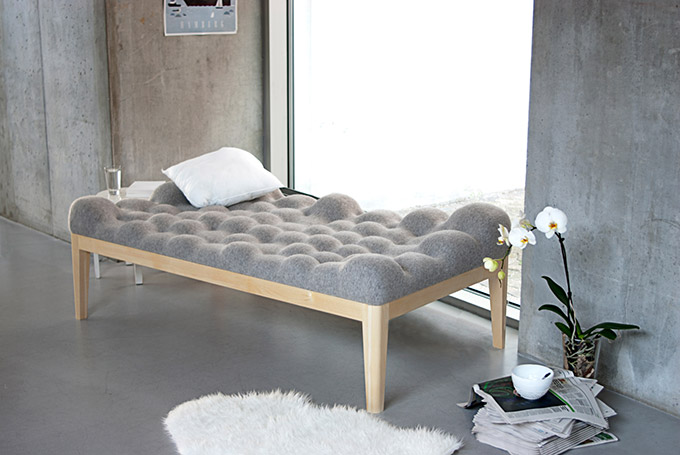 cosy day bed grey wool
