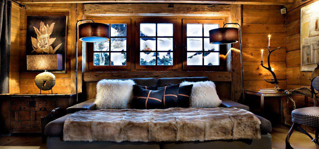 canapé cosy plaid fourrure