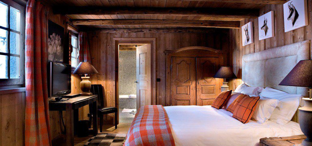 chambre bois chalet