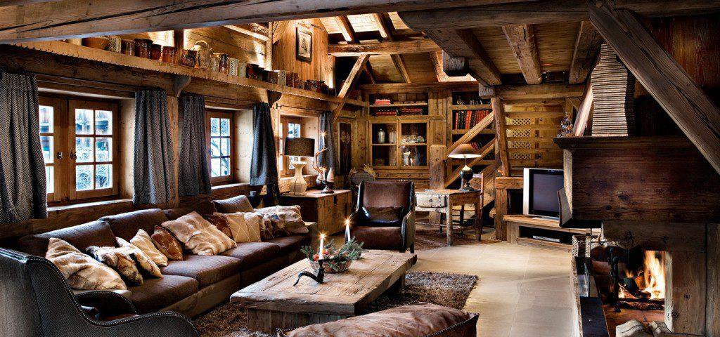 salon luxe chalet montagne