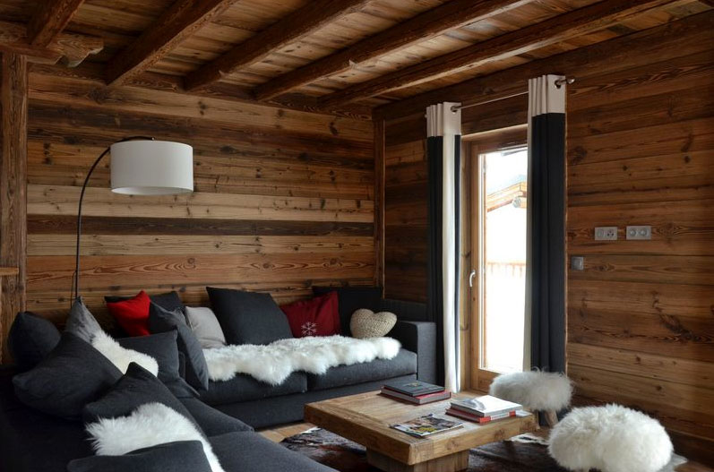 Modern chalet interior design cosy neve design for Decoration interieur moderne salon