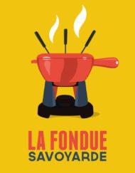 Affiche la fondue jaune
