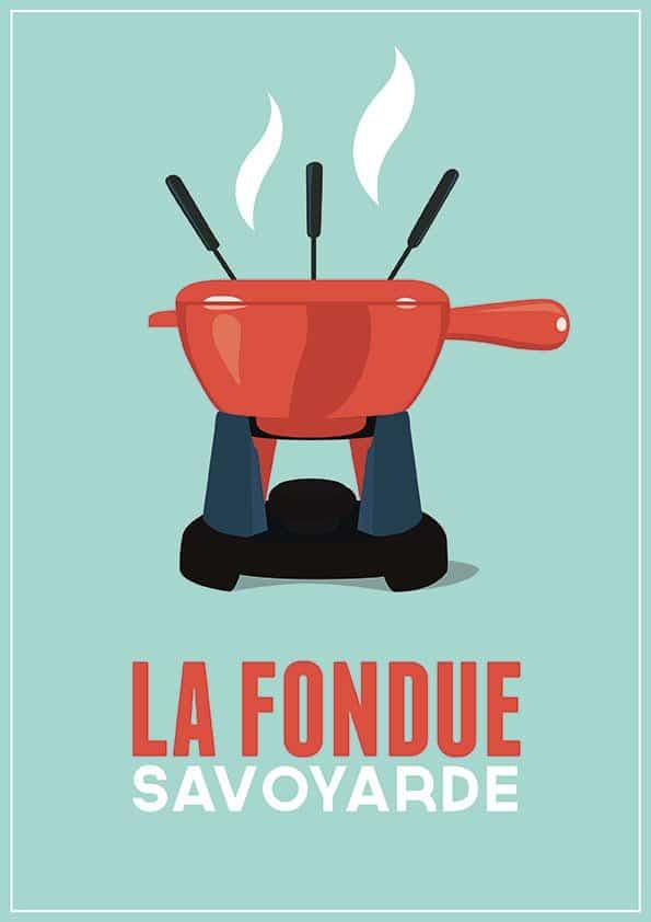 affiche fondue bleu