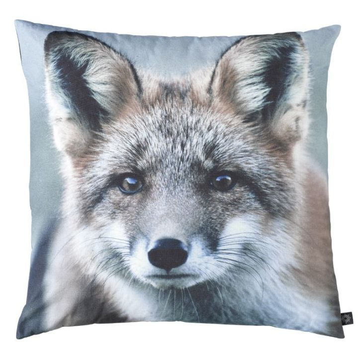coussin loup nature