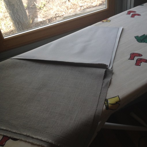 fabric on iron table