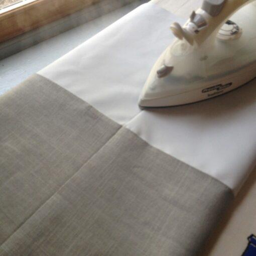 flatten the fabric
