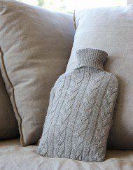 bouillotte laine tressée