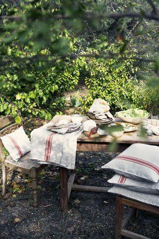 inspiration jardin linge de maison