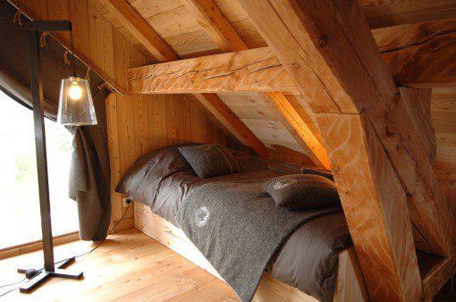 lit sous toit chalet