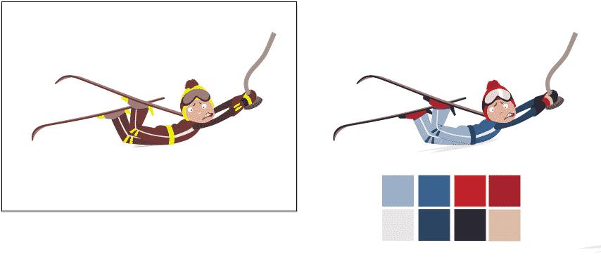 vectorisation poster ski