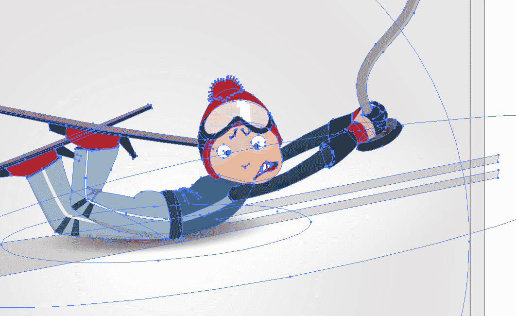 adobe illustrator DIY ski poster