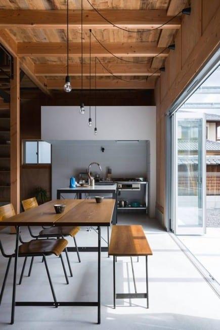 cuisine et salle à manger ampoules suspendues