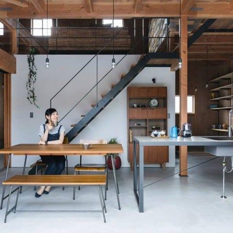 table moderne bois métal