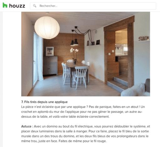 Article Houzz éclairage salle à manger