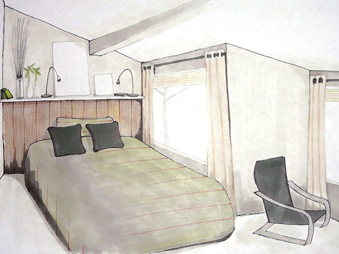 Chambre de 8m2 cosy neve design for 8m2 room design
